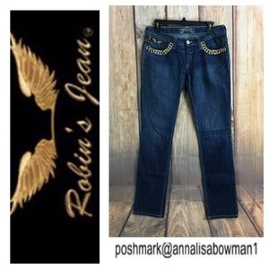 ⭐️Robin's Jeans Marilyn jean w/gold chain accents